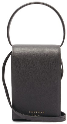 Tsatsas Malva 3 Grained-leather Bag - Black