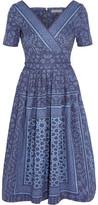 Preen Line Saira Printed Denim Dress