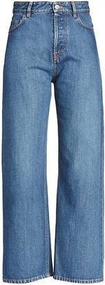 Balenciaga High-Rise Ankle-Cut Jeans