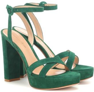 Gianvito Rossi Poppy 85 suede platform sandals