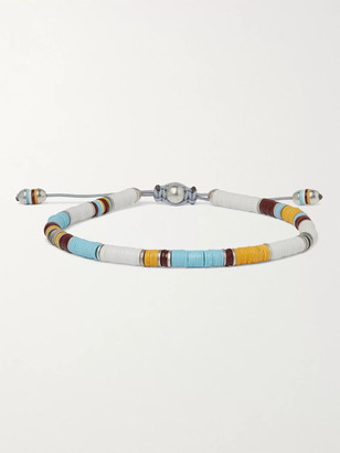 M. Cohen Sterling Silver And Cord Beaded Bracelet