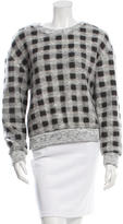 Elizabeth and James Long-Sleeve Checkered Sweater