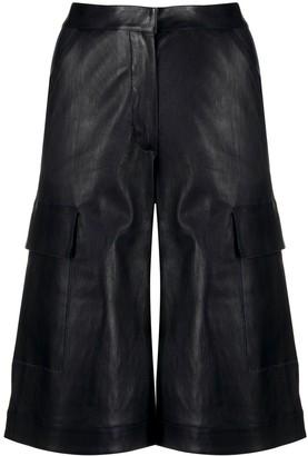 Inès & Marèchal Long Leather Shorts