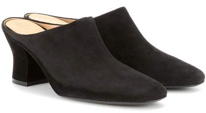 The Row Adele suede mules