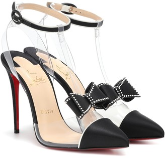 Christian Louboutin Naked Bow 100 PVC and satin pumps