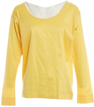 Gucci Yellow Cotton Top for Women Vintage
