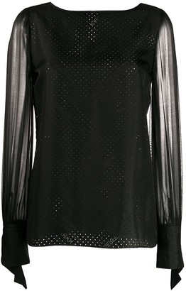 Karl Lagerfeld Paris x Carine sheer blouse