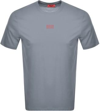 HUGO BOSS Dumed203 Crew Neck Short Sleeve T Shirt Grey