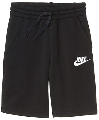 Nike Sportswear Club Shorts (Big Kids) (Black/Black/White) Boy's Shorts