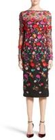 Lela Rose Women's Floral Embroidered Pencil Dress