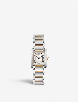 Cartier Tank Francaise 18ct yellow-gold and stainless steel watch