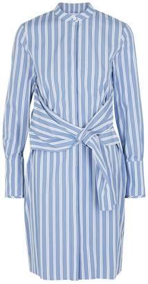 Victoria Victoria Beckham Victoria, Victoria Beckham Blue Striped Cotton Shirt Dress