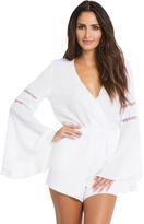 Elan Long Sleeve Crochet Romper in White