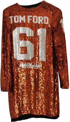 Tom Ford Orange Glitter Dress for Women