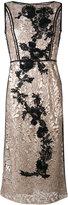 Antonio Marras metallic lace dress - women - Polyester/Viscose - 44