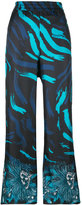 Versus printed wide leg trousers - women - Silk/Polyamide/Spandex/Elastane/Viscose - 40