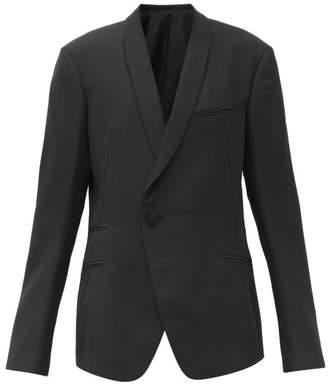 Haider Ackermann Miles Wool-crepe Single-breasted Suit Jacket - Womens - Black