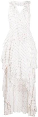 Dvf Diane Von Furstenberg Ruffle Trim Asymmetric Hem Dress