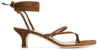 Paris Texas Wrap Tie Strap 45mm Sandals