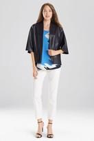 Natori Faux Leather Cropped Kimono
