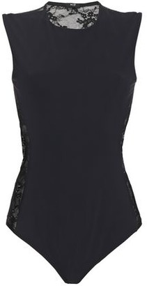 Alix Stretch-jersey And Corded Lace Bodysuit