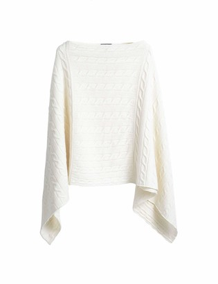Gant Women's D2. Lambswool Cable Poncho Pullover Sweater