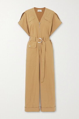 3.1 PHILLIP LIM - + Space For Giants Belted Organic Cotton-blend Twill Jumpsuit - Brown