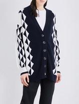J.W.Anderson Oversized geometric-intarsia merino-wool cardigan