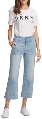 DKNY Wide Leg Denim Pant