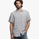 James Perse Needle Stripe Linen Shirt