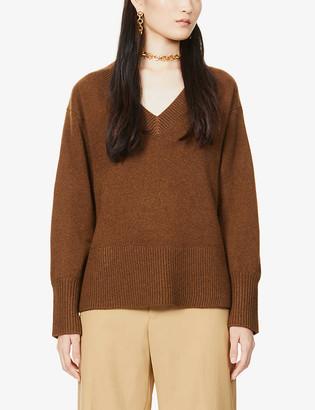 Vince V-neck cashmere-blend jumper