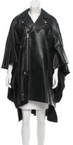 Junya Watanabe Faux Leather Zip-Up Cape