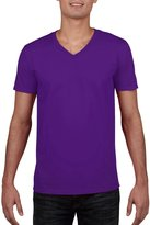 Gildan Mens Soft Style V-Neck Short Sleeve T-Shirt (XXL)