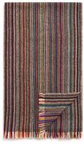 Paul Smith Multi Stripe Herringbone Scarf