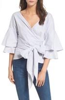 WAYF Women's Beckett Tiered Bell Sleeve Top