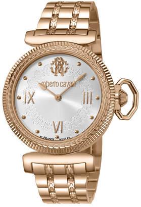 Roberto Cavalli By Franck Muller Women Swiss Quartz Rose Gold Stainless Steel Bracelet Watch, 38mm