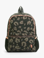 Scamp & Dude Leopard Lightening Backpack, Black