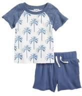Splendid (スプレンディッド) - Splendid Palm Print T-Shirt & Shorts Set