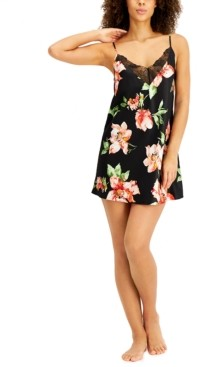 INC International Concepts Inc Floral Print Chemise Nightgown, Created for Macy's