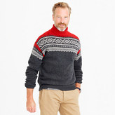 J.Crew Lambswool Nordic turtleneck sweater