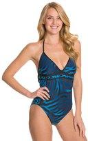 Carmen Marc Valvo Sahara Halter One Piece Swimsuit 8125887