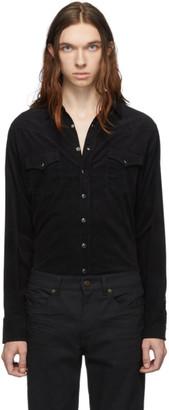 Saint Laurent Black Classic Corduroy Western Shirt