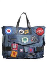 DSQUARED2 Washed Denim Shopping Bag