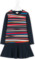 Paul Smith diagonal stripes flared dress - kids - Polyamide/Spandex/Elastane/polyester - 4 yrs