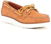 Sperry Azur Cora Nubuck Leather Rawhide Lace Up Wedge Boat Shoes