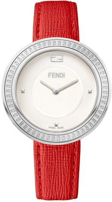 Fendi Women's My Way Swiss Quartz Embossed Leather Strap Watch, 36mm