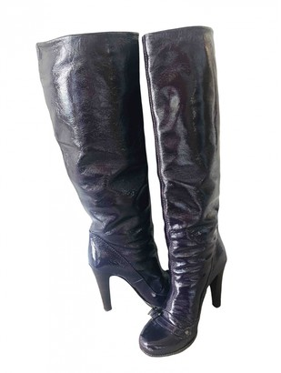 Mulberry Burgundy Patent leather Boots