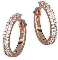 Kate Spade Women's Save The Date Pavé Rose Goldplated Huggie Hoop Earrings