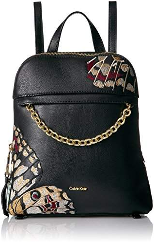 Calvin Klein Hera Pebble Embellished Chain Front Backpack