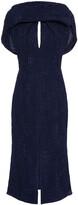 Thumbnail for your product : Roland Mouret Belem Cape-effect Silk-cloque Midi Dress